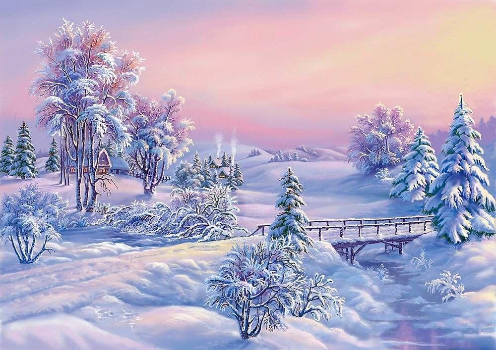 Paysage enneig wallpaper free fond d 39 cran gratuit le for Fond ecran gratuit hiver noel