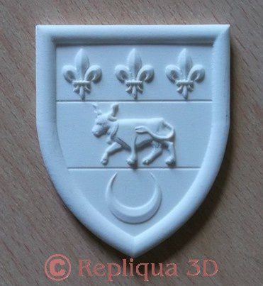 sculpture blason Coursan - Repliqua 3D
