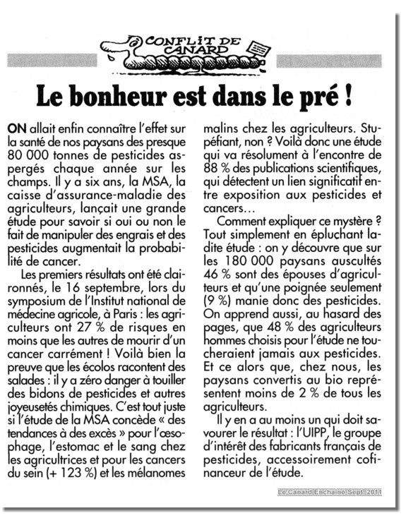 CANARD ENCHAINE article2182