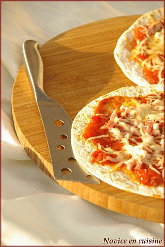 Novice en cuisine - Wraps façon pizza