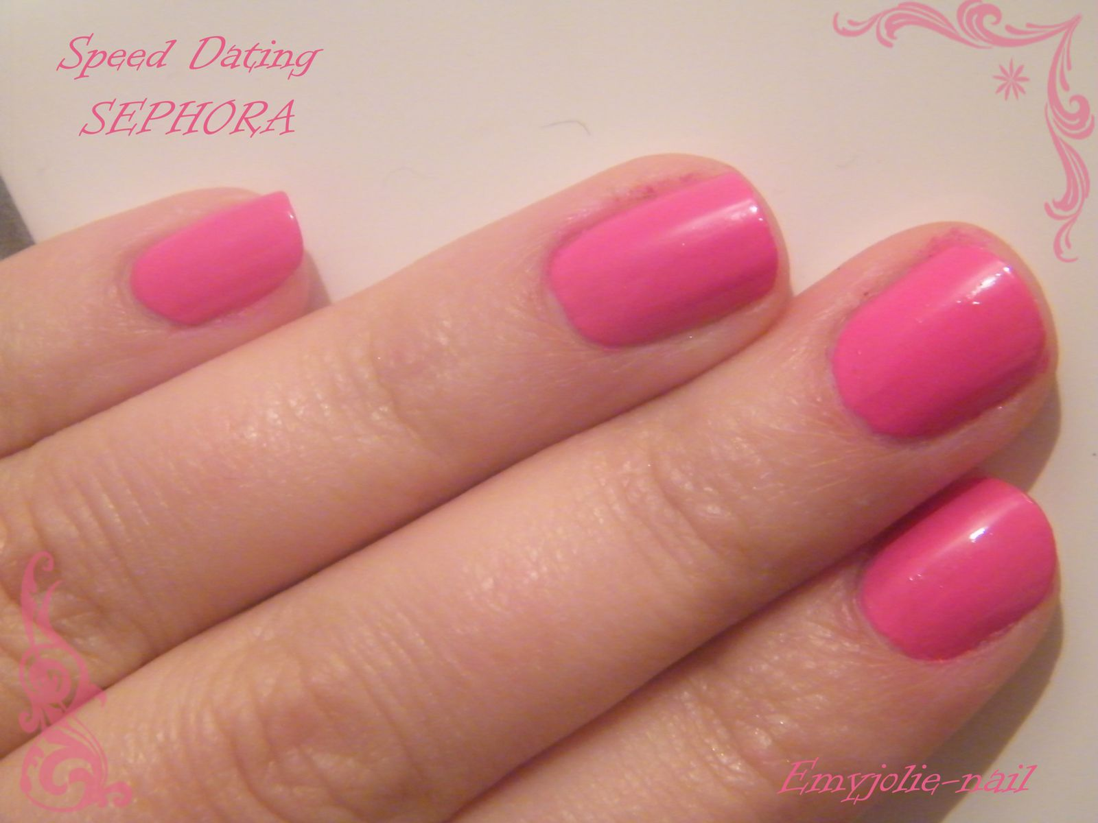 Sephora vernis speed dating