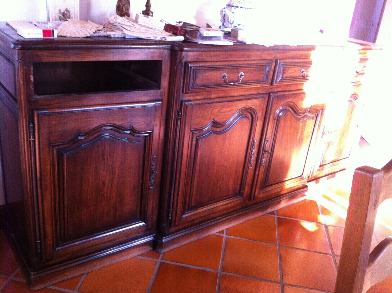 Buffet table secretaire chaises patin s ambiance for Ambiance et patine valence