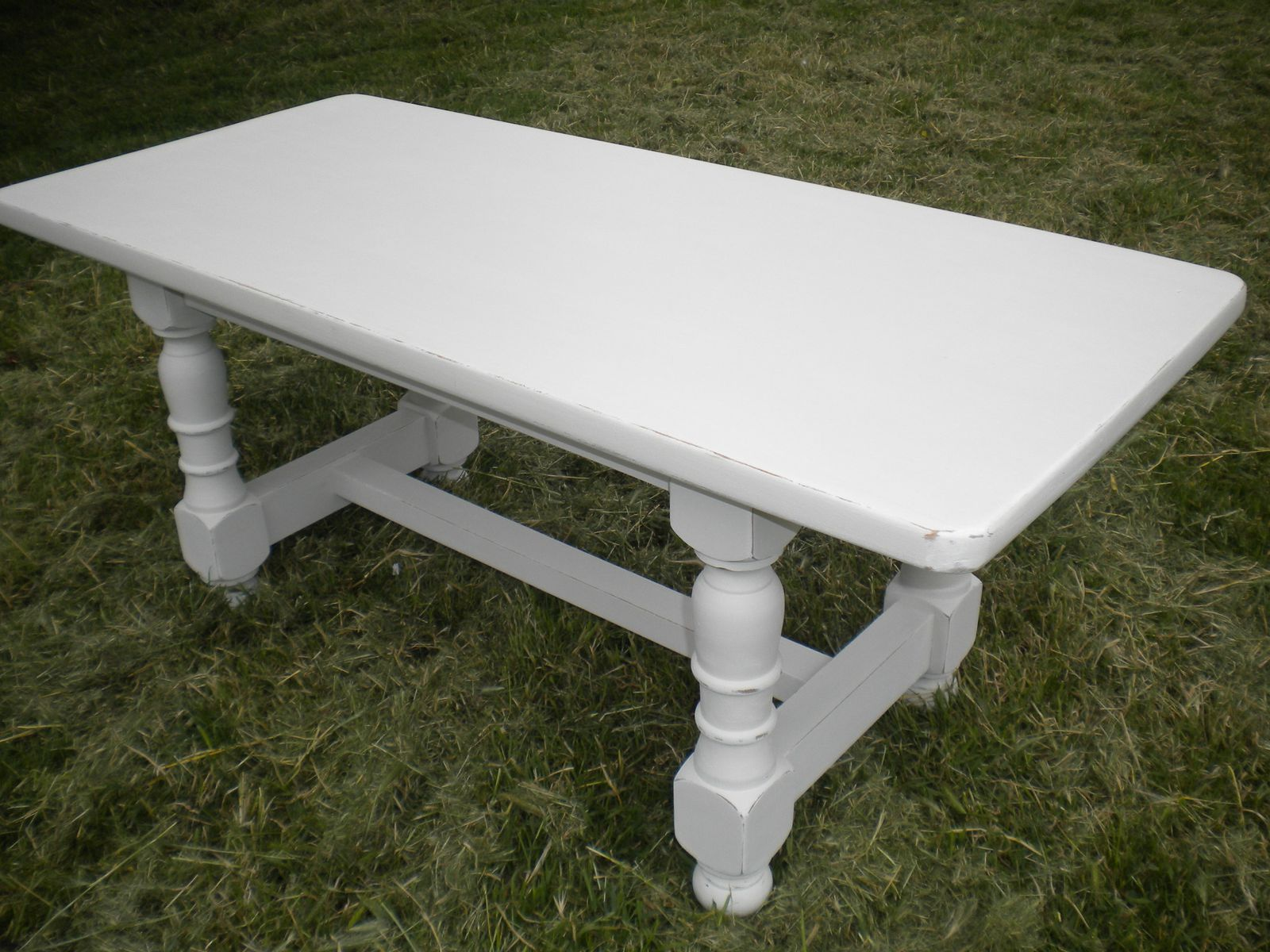 Top Table basse patine argile - Ambiance patine relooking de meubles  RB01