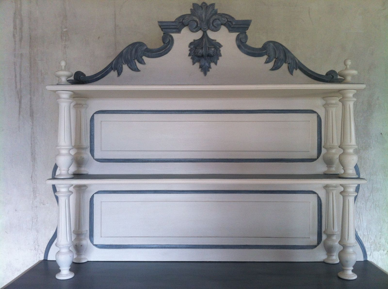 Buffet patine - Meuble ancien patine gris ...