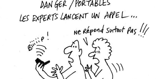 experts dangers ondes du telephone portable humour absurde