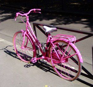 bicyclette-rose