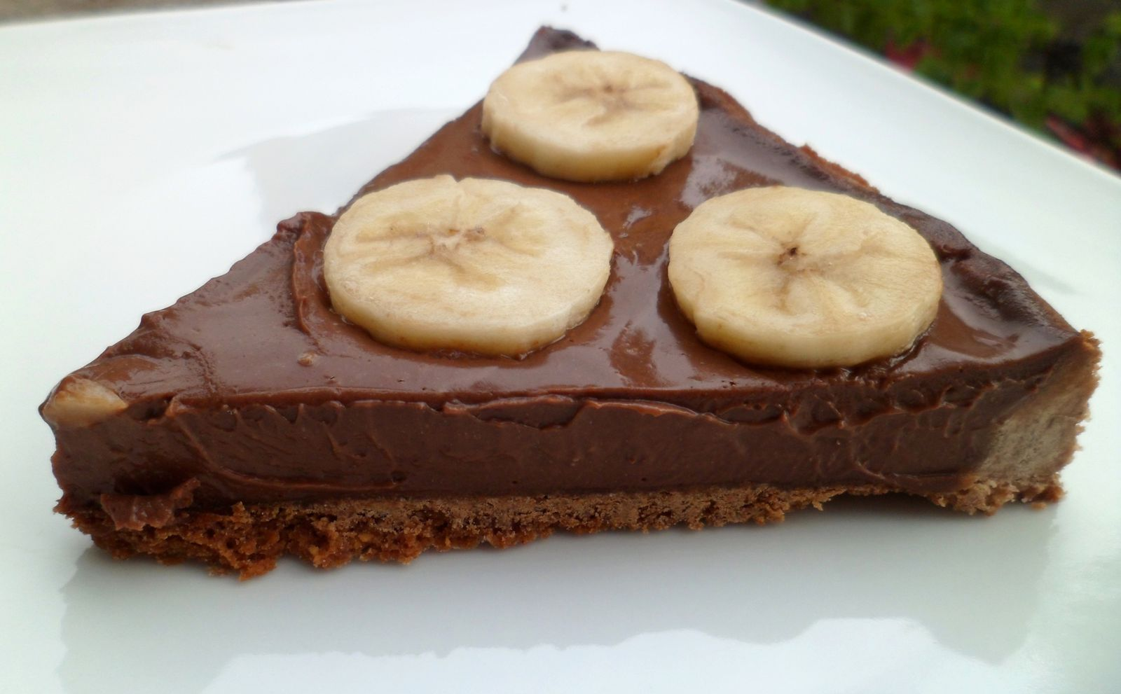 tarte chocolat banane fourchette et mascara blog de cuisine en auvergne. Black Bedroom Furniture Sets. Home Design Ideas
