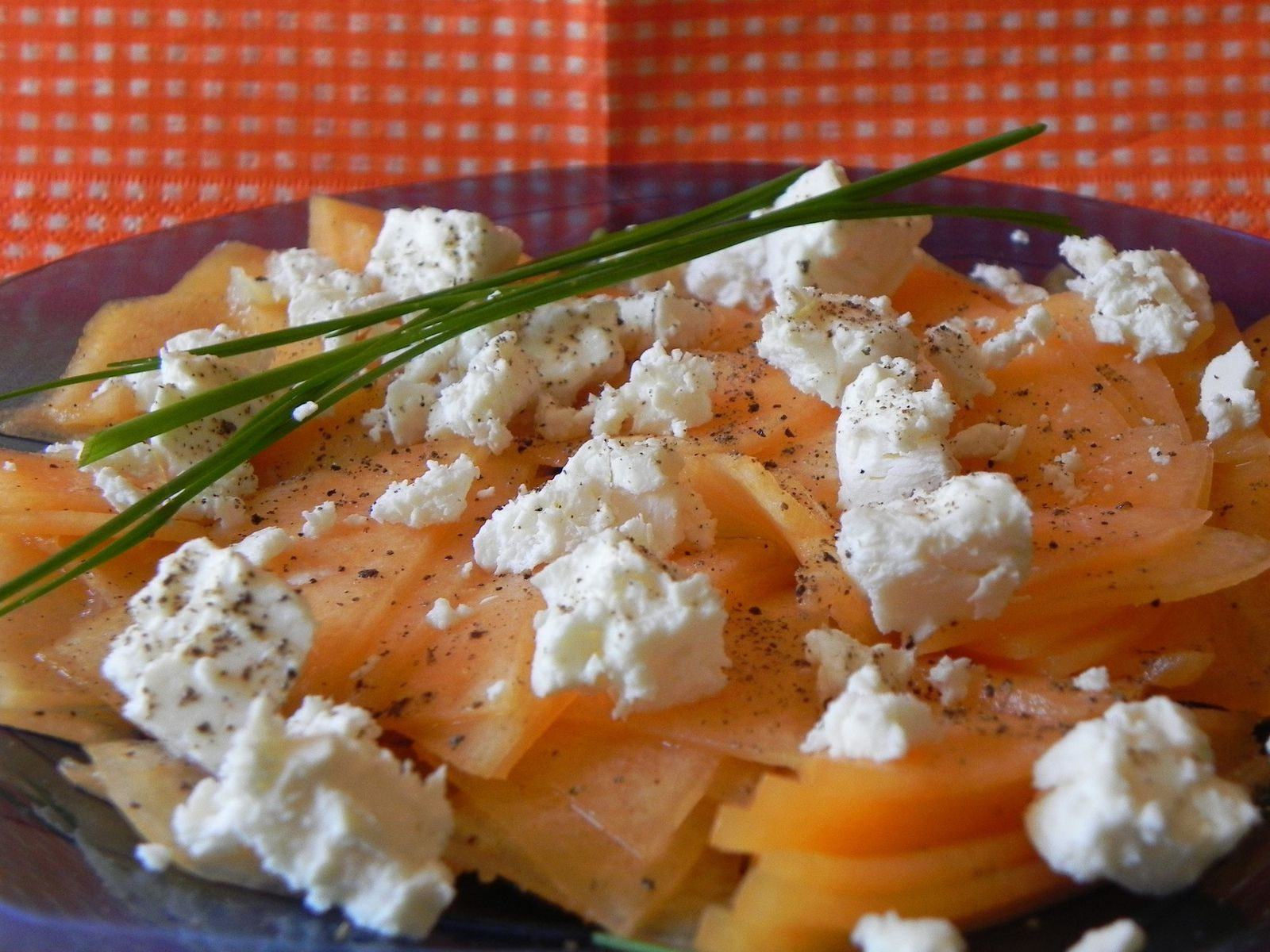 Carpaccio de melon la feta for Entrees froides ete
