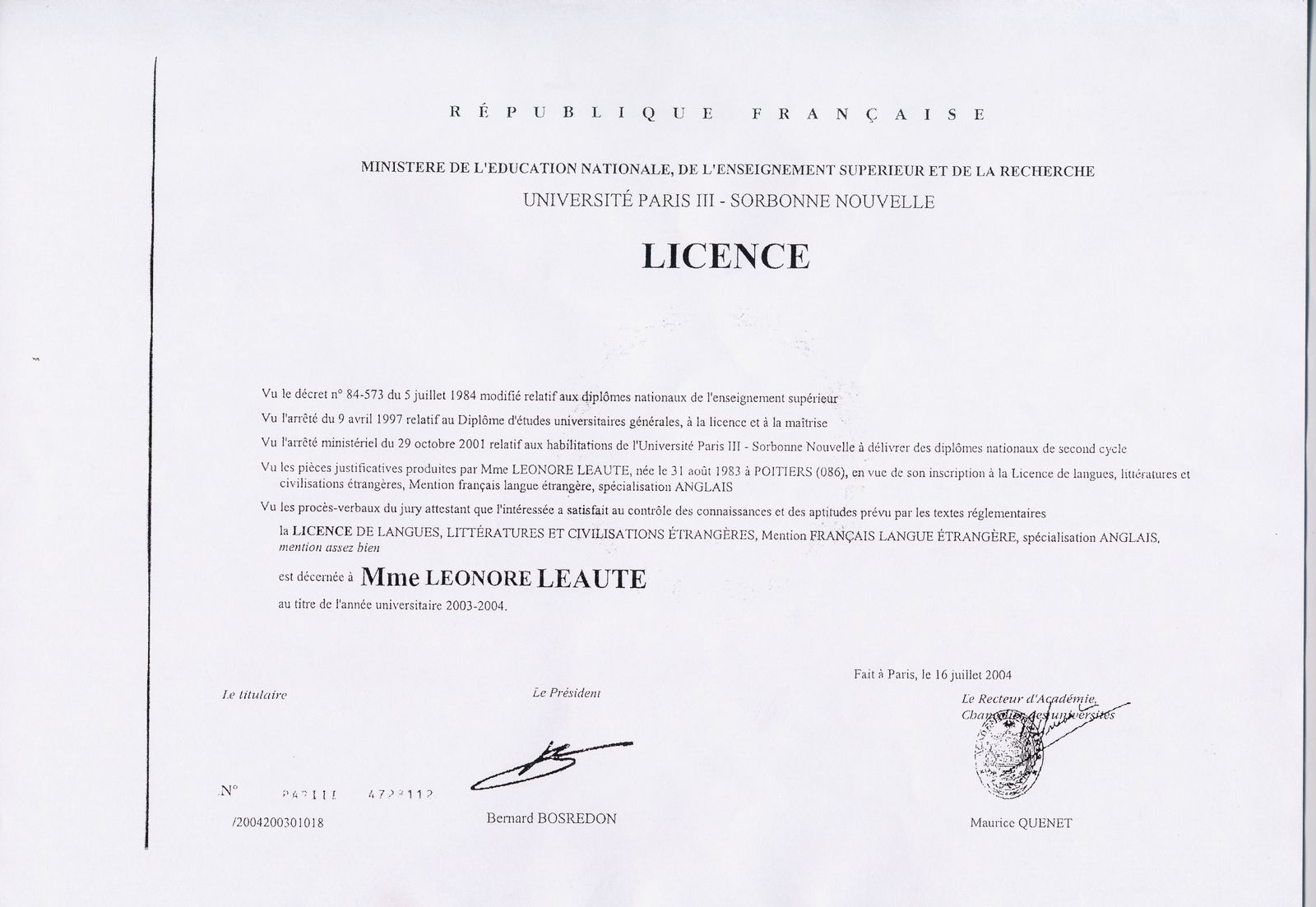 example resume  exemple cv anglais driving licence