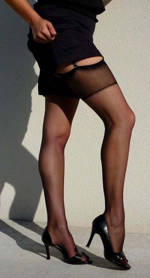 Awesome one model place pantyhose one