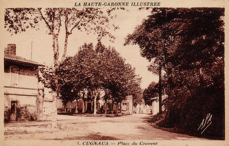 photo ancienne carte postale cugnaux place du couvent