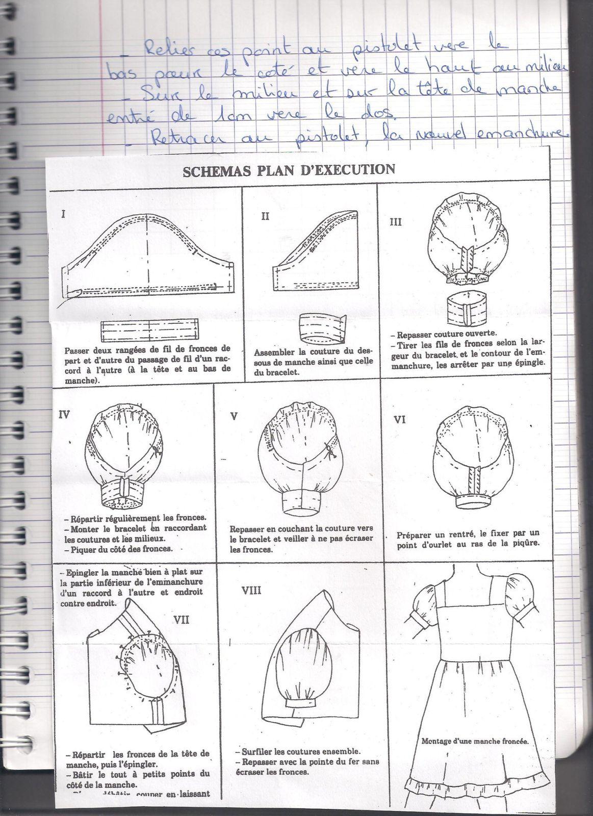mon cahier de modélisme avec toutes les leçon et étape de construction du patron