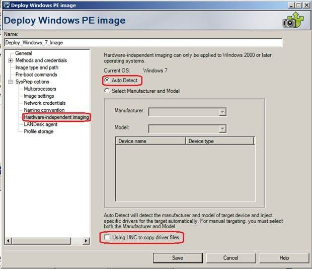 OS Deployment (OSD) for Windows 7 in LANDesk Management