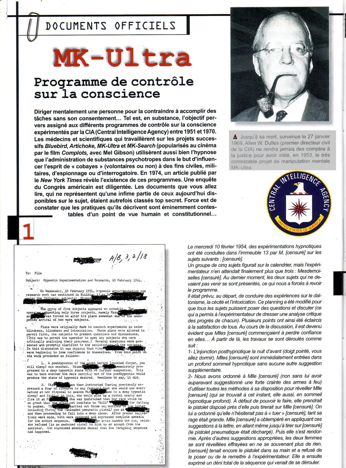 Album - MK-ultra - Le blog de investigatestory
