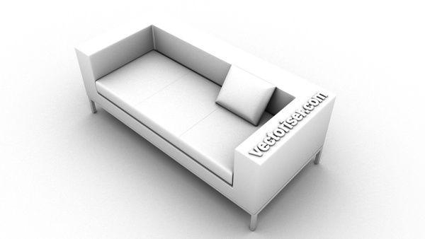 Fin.Modelisation 3D canape modeliser