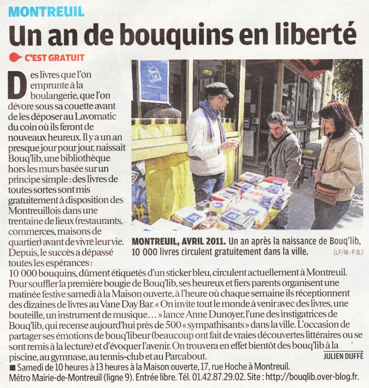 le parisien 5 avril 2012