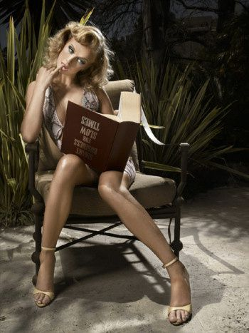caridee-photo-dumb-blonde-model-reading-book-upside-down