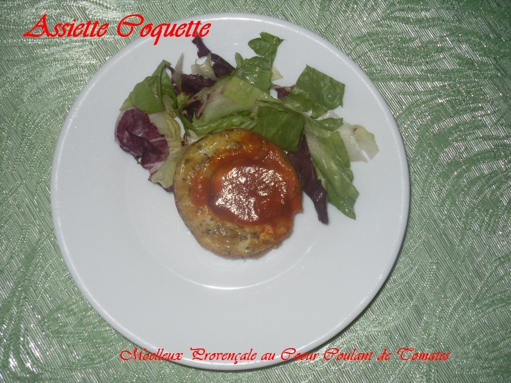 Moelleux Provençale au coeur coulant de tomates