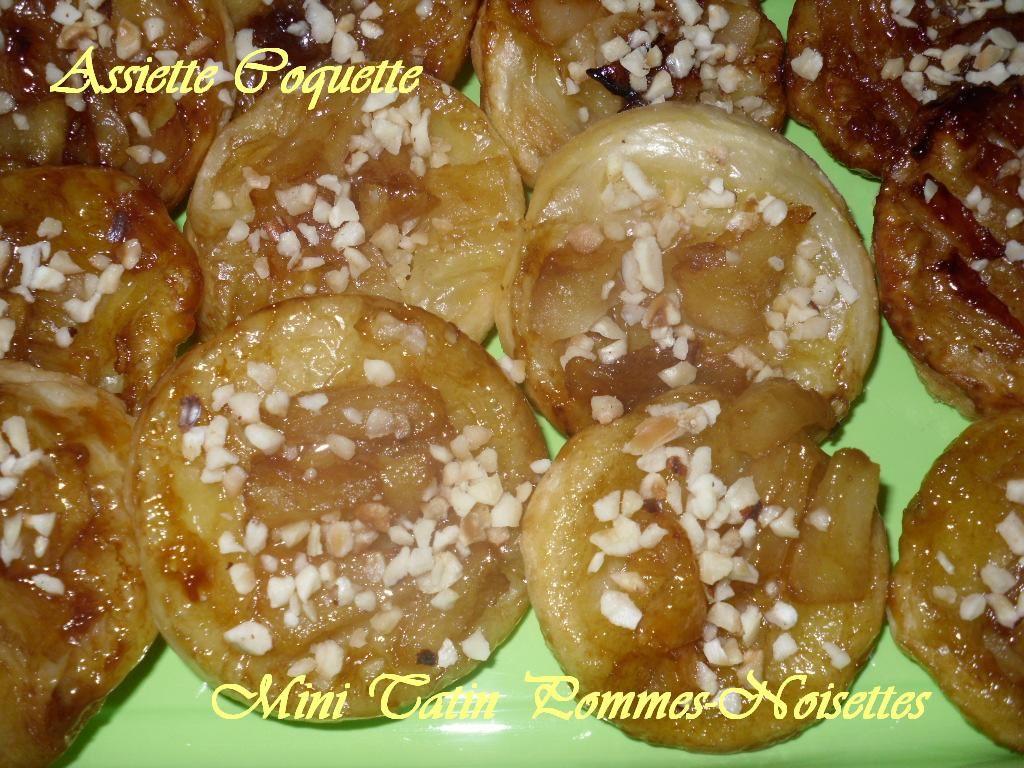 Mini tatin pommes-noisettes