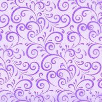 Chemin de table, volutes pailletées, violet