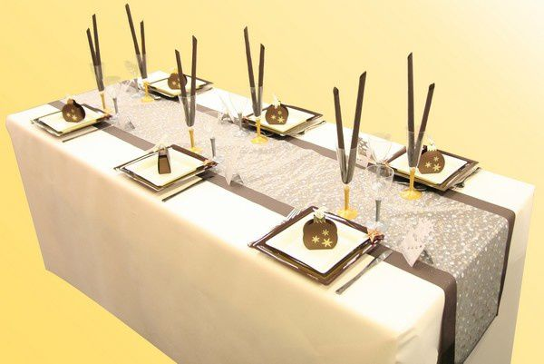 Decoration de table mariage decoration mariage astuces - Presentation de table de noel ...