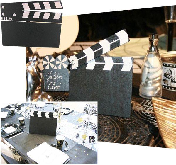 Claps cinéma décoratifs pour mariage
