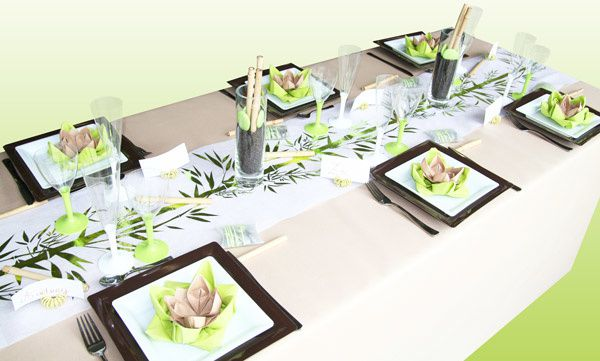 Deco table mariage zen nature - Decoration table mariage theme nature ...