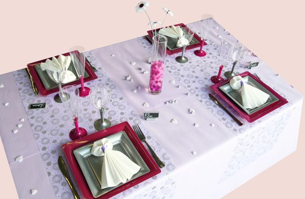 D coration de table parme fuchsia et gris decoration - Gris et parme ...
