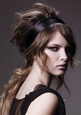 Coiffure cheveux long style rock