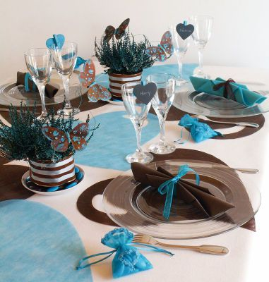 Sets de table en forme de coeur