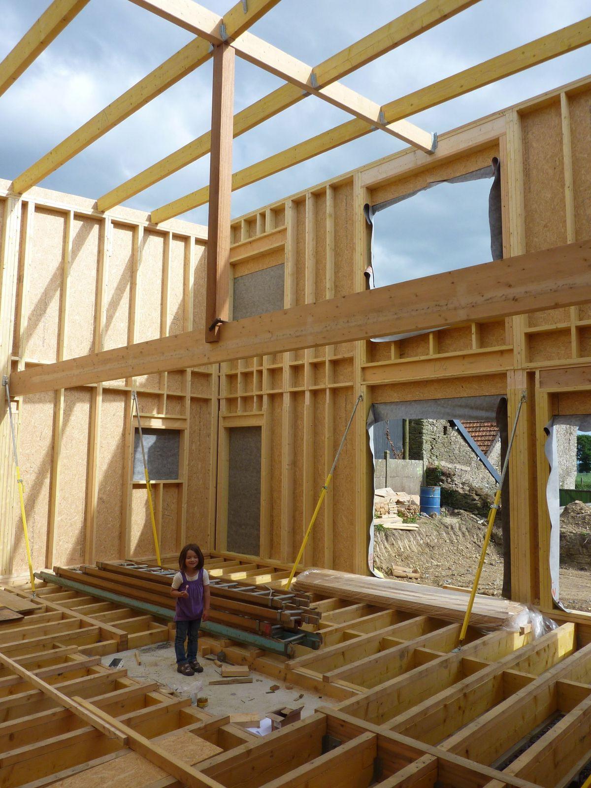 Maison à ossature bois, avantage  RAPIDITE !!  notre