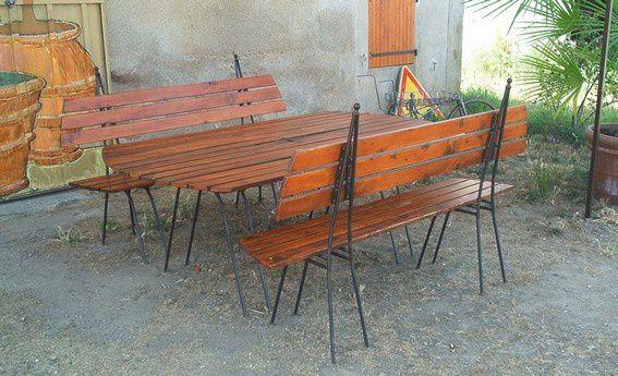 Salon de jardin atelier dans fer - Salon de jardin artelia ...