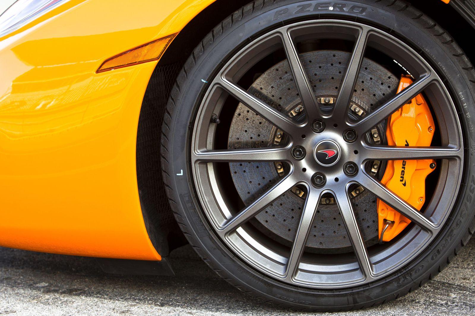 wheels, tyres and brakes - mclaren mp4-12c