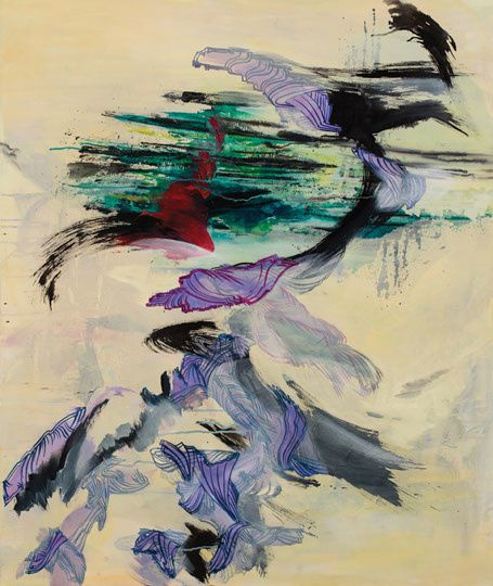 55-suling-wang-drifting-bamboo,-oil-on-canvas,-2012,-122x10