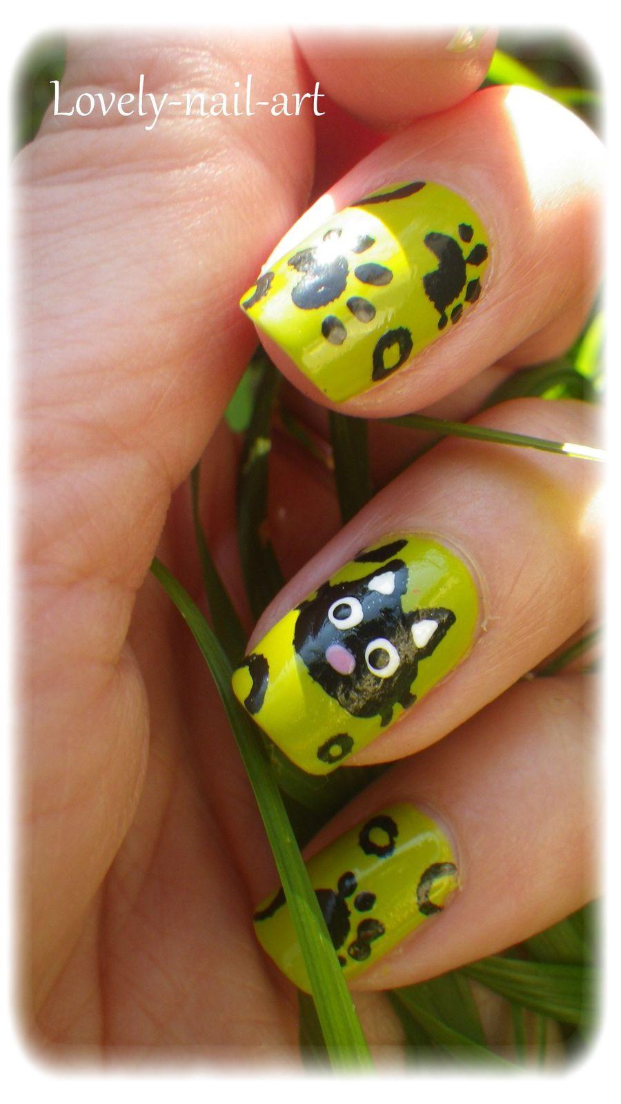 Miaouuu le blog de lovely nail art - Nail art chat ...