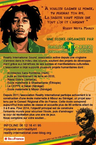 Homage BOB MARLEY Paris-reality international-reggae sound-