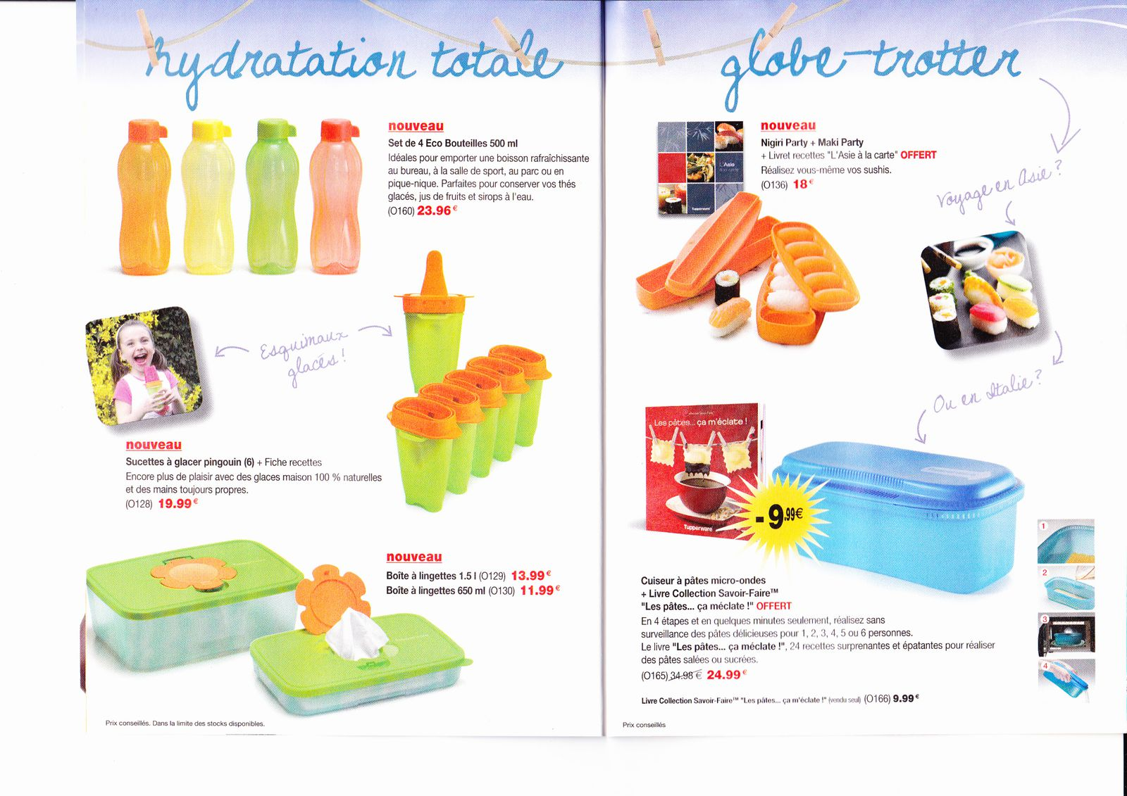 Promotions clientes tupperware juillet et aout 2011 le for Article culinaire