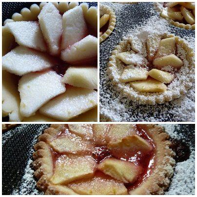 tartelettes pommes framboises1