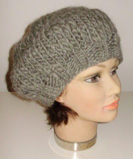 tricoter un bonnet beret en laine