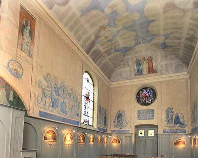 La Chapelle décorée par Maurice Denis à saint germain en laye (78100)