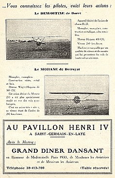 St Germain en Laye mai 1933 Grand gala aérien international pavillon henry 4