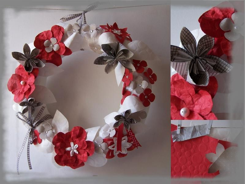 Couronne pour no l le blog de lespausescreativesanitalegendre - Creation couronne de noel ...