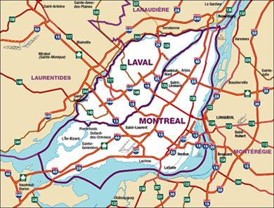 carte montreal
