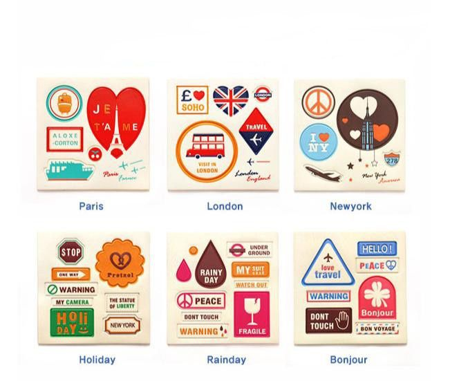collection sticker vintage