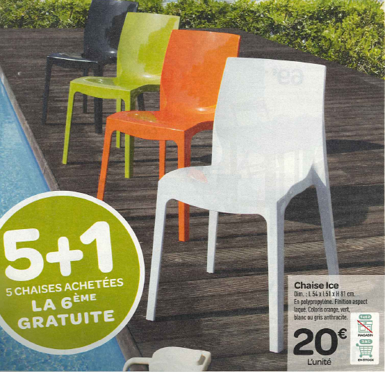 Chaise de jardin geant casino - Carrefour table et chaise de jardin ...