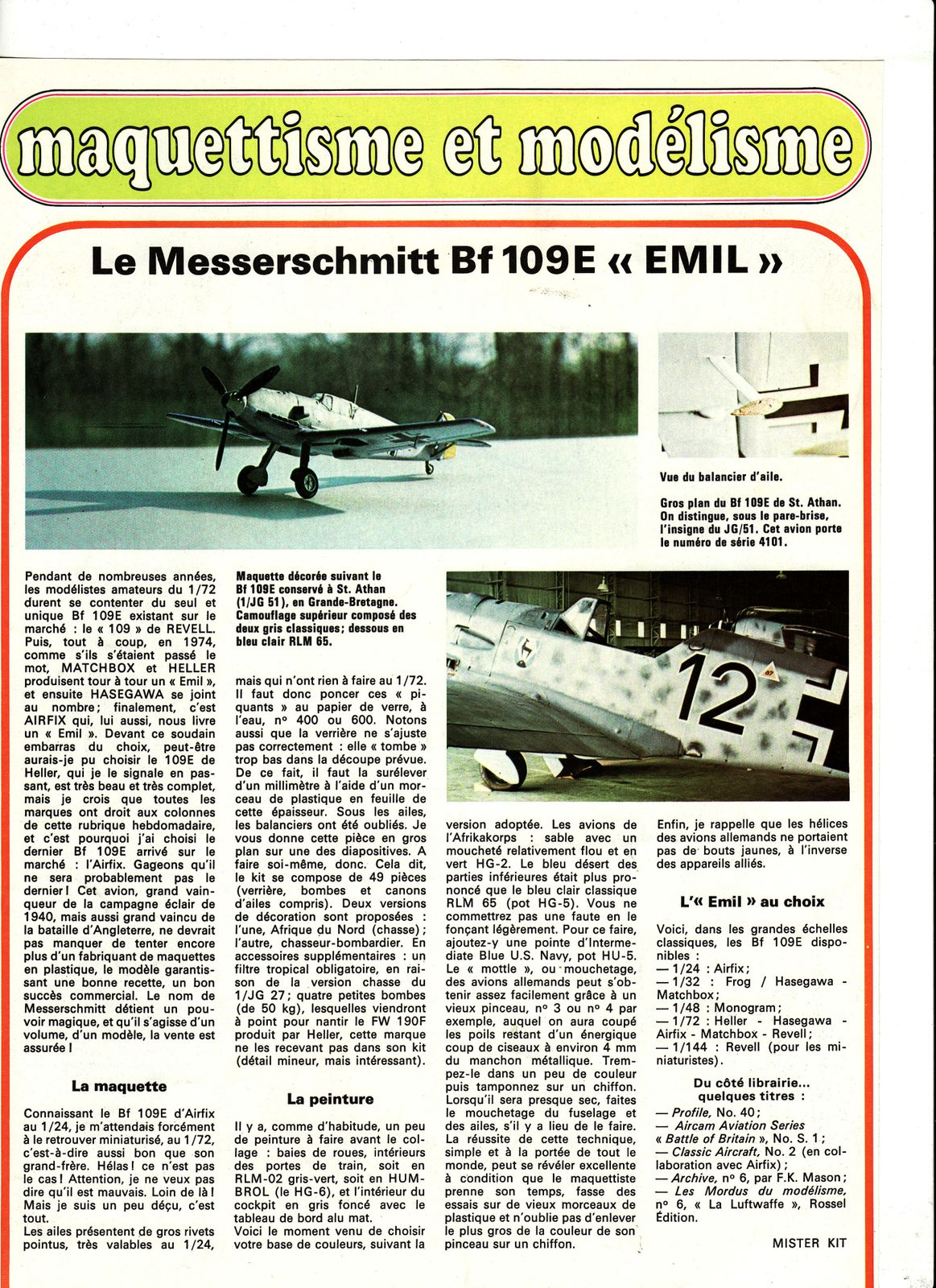 avion messerschmitt BF 109E emil.0