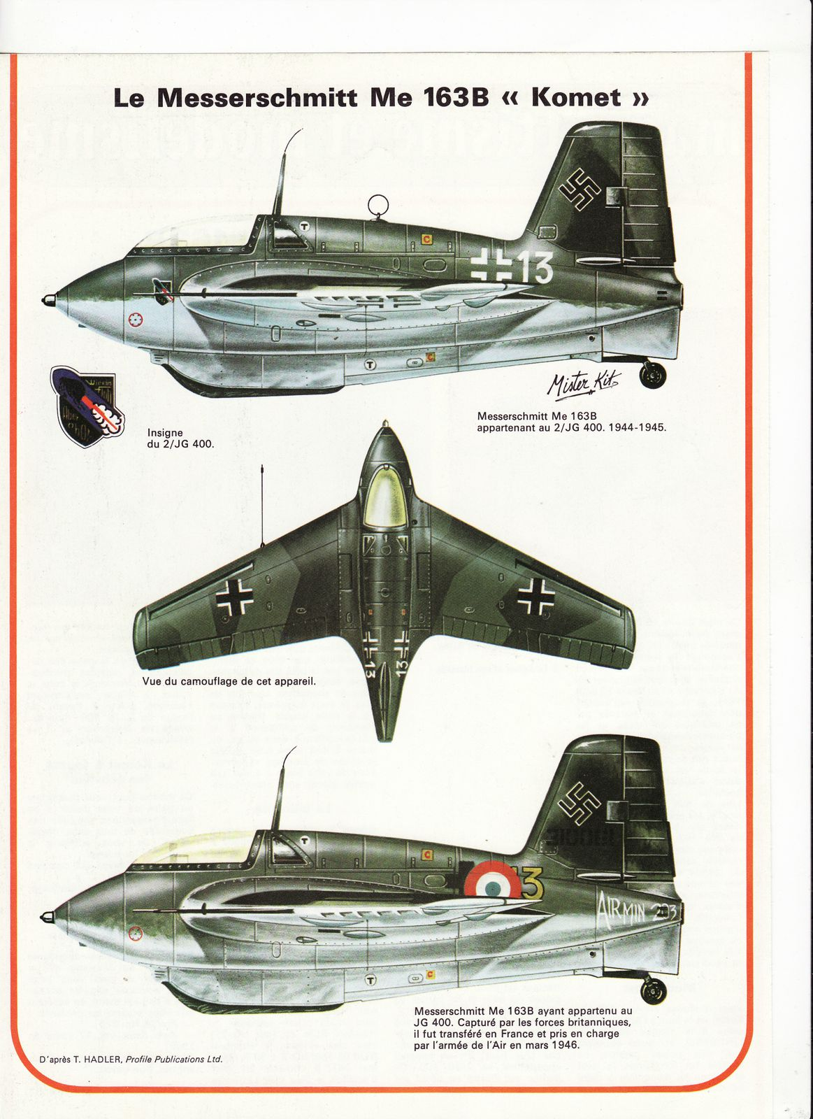 avion messerschmitt Me 163B komet.1