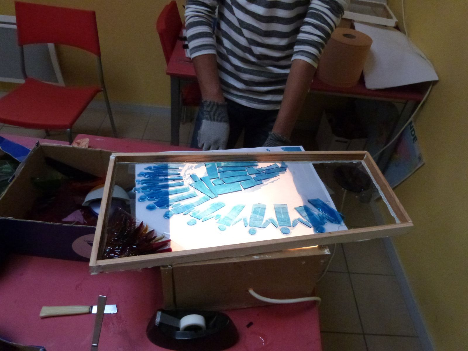 Les ateliers créatifs, animés par Sandra, Emilie et Domi, chaque lundi après-midi à la SAVA