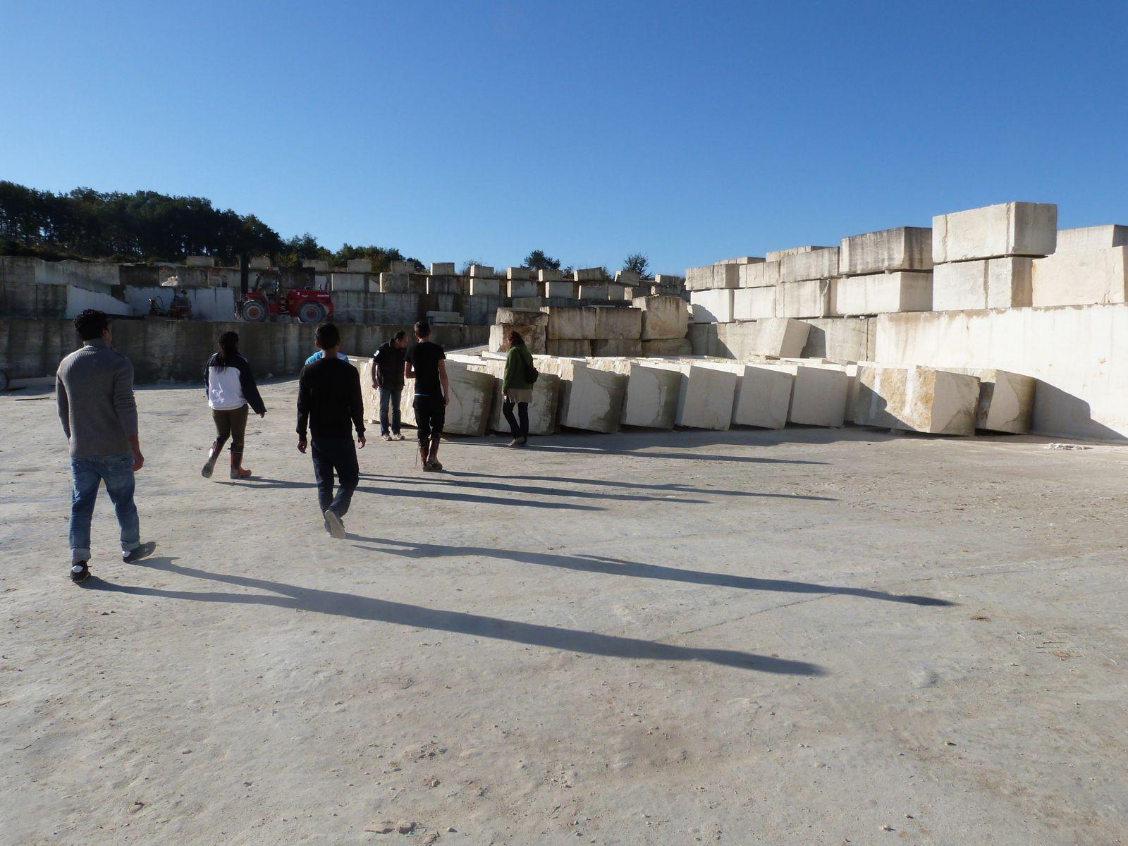 Notre visite des carrières Constant à Paussac-et-Saint-vivien et à la Coutellerie nontronnaise, novembre 2013