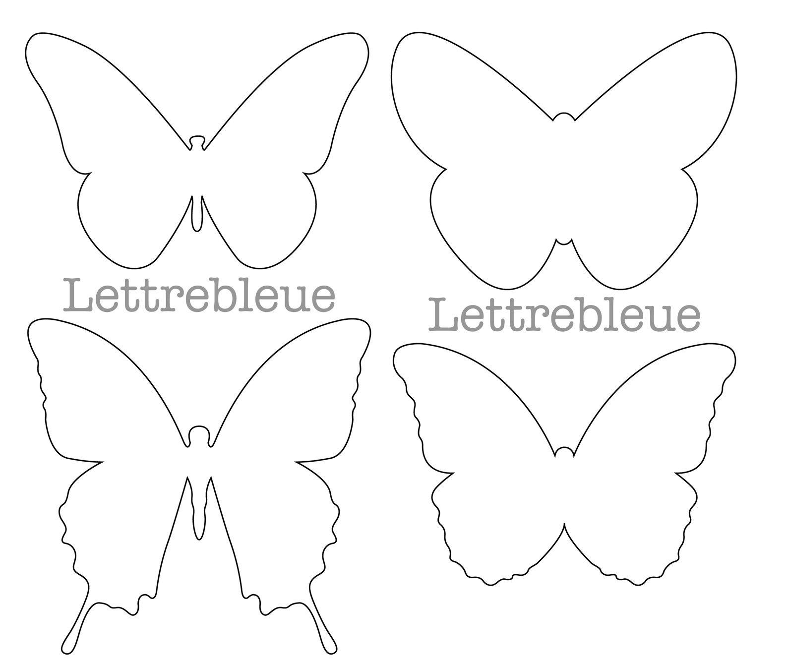 Gabarits scrapatouille de lettrebleue - Papillon imprimer ...